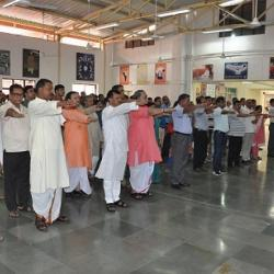Honorable Vice Chancellor Prof. Ramesh Kumar Pandey administered the Sadbhavna Diwas pledge
