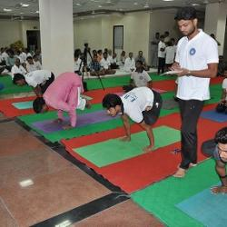 International Yoga Day was celebrated on June 21, 2018 at the Vidyapeetha